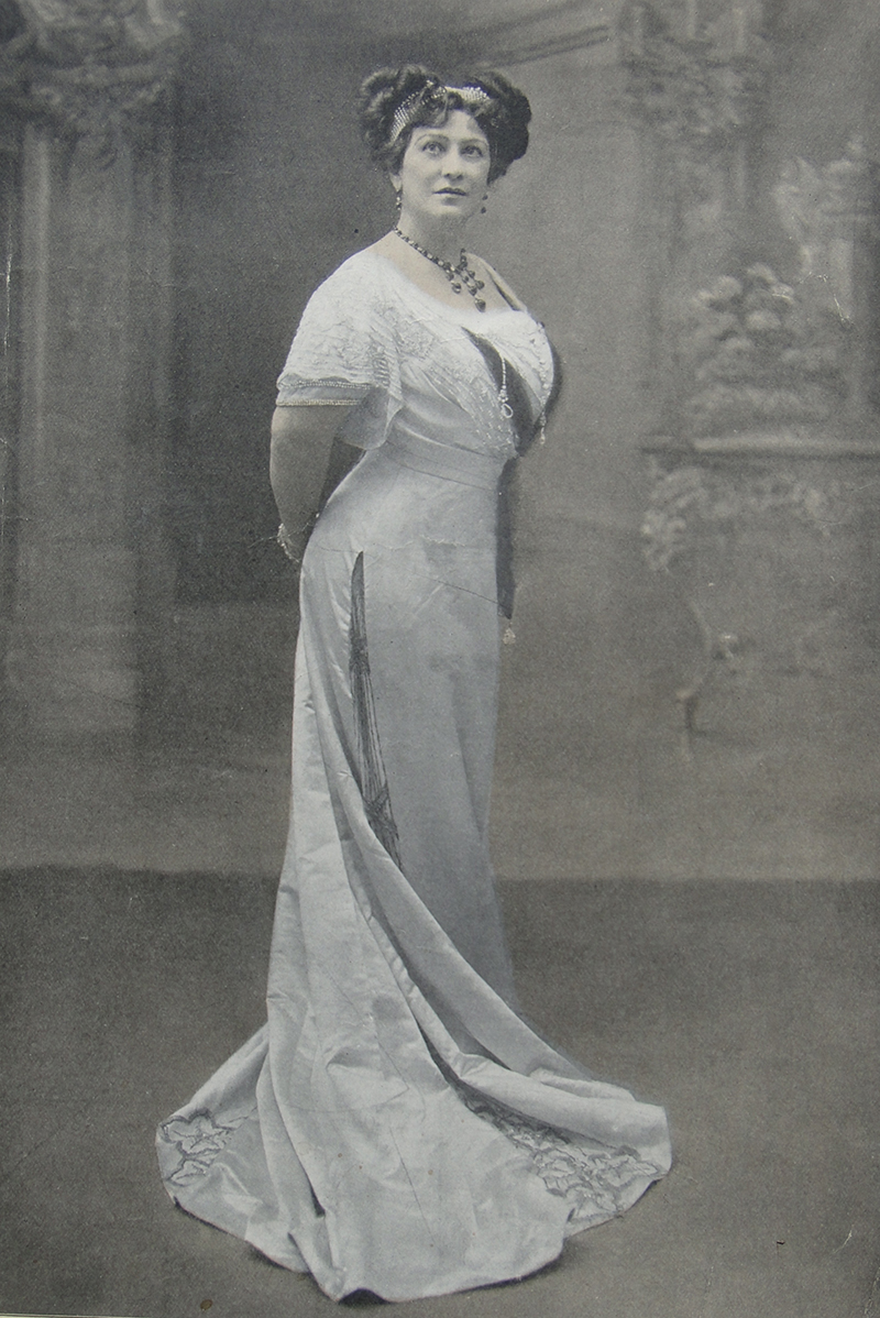 Lillian in a Parisian gown.