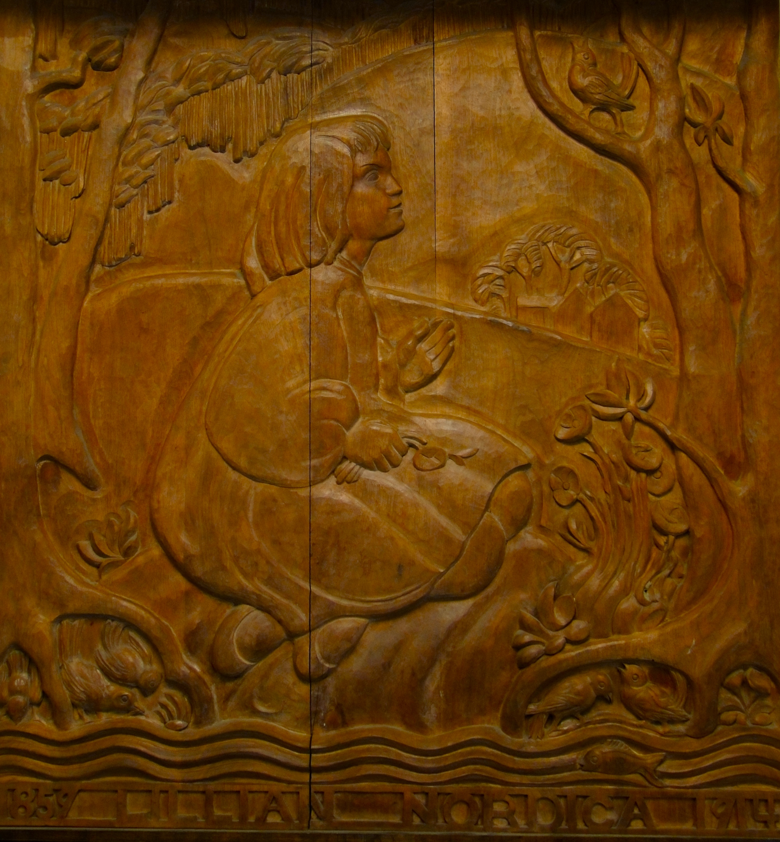 Bas relief in Farmington post office.